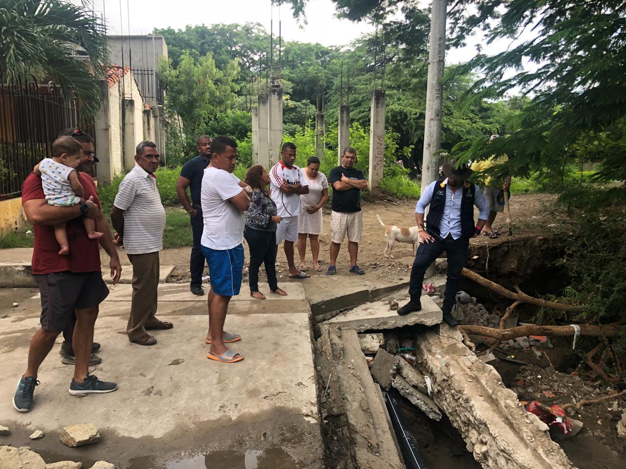 La Alcaldía de Santa Marta  apoyará la construcción de gaviones en la Urbanización Villas de Alejandría