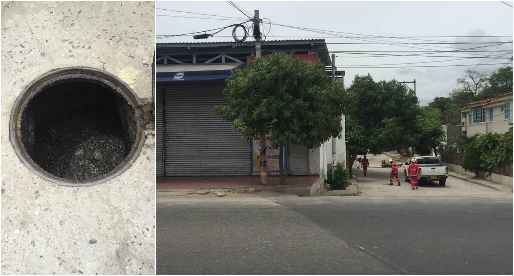 Dadsa cierra serviteca para contrarrestar el taponamiento de manholes en Gaira