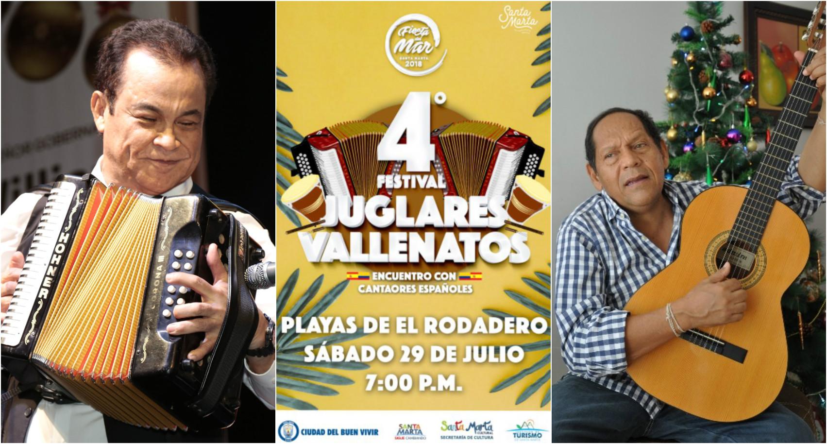 Alfredo Gutiérrez, Carlos Huertas y Rosendo Romero estarán en el Festival de Juglares Vallenatos
