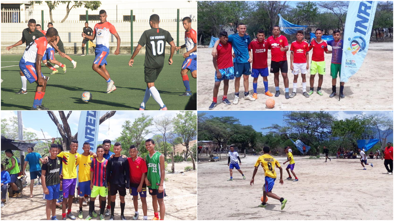 Inred inicia torneo relámpago de fútbol en el barrio 20 de Octubre