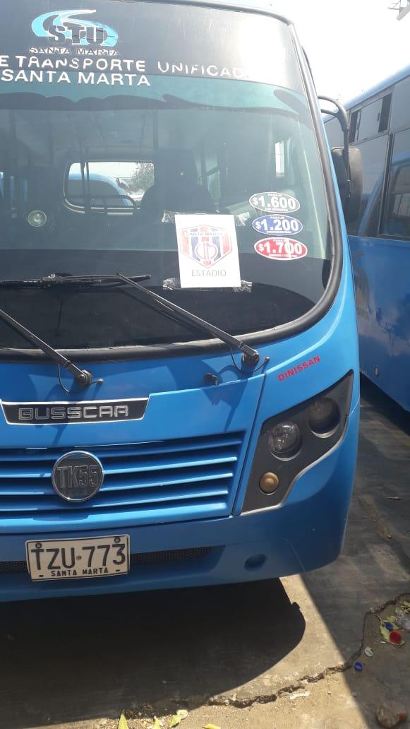 Alcaldía y STU colocan a disposición de los samarios buses para el acceso al  estadio Sierra Nevada