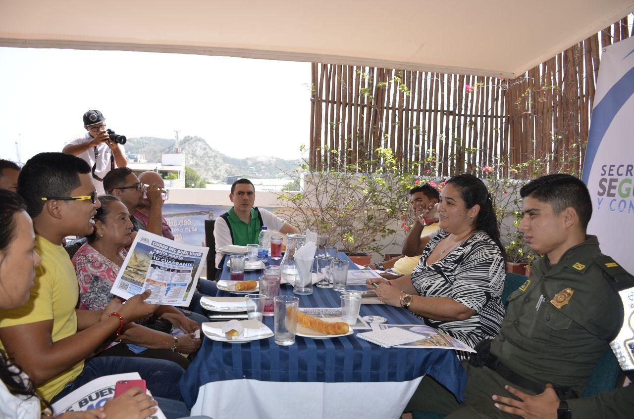 Distrito realiza Diálogo por la Seguridad con comerciantes de San Andresito