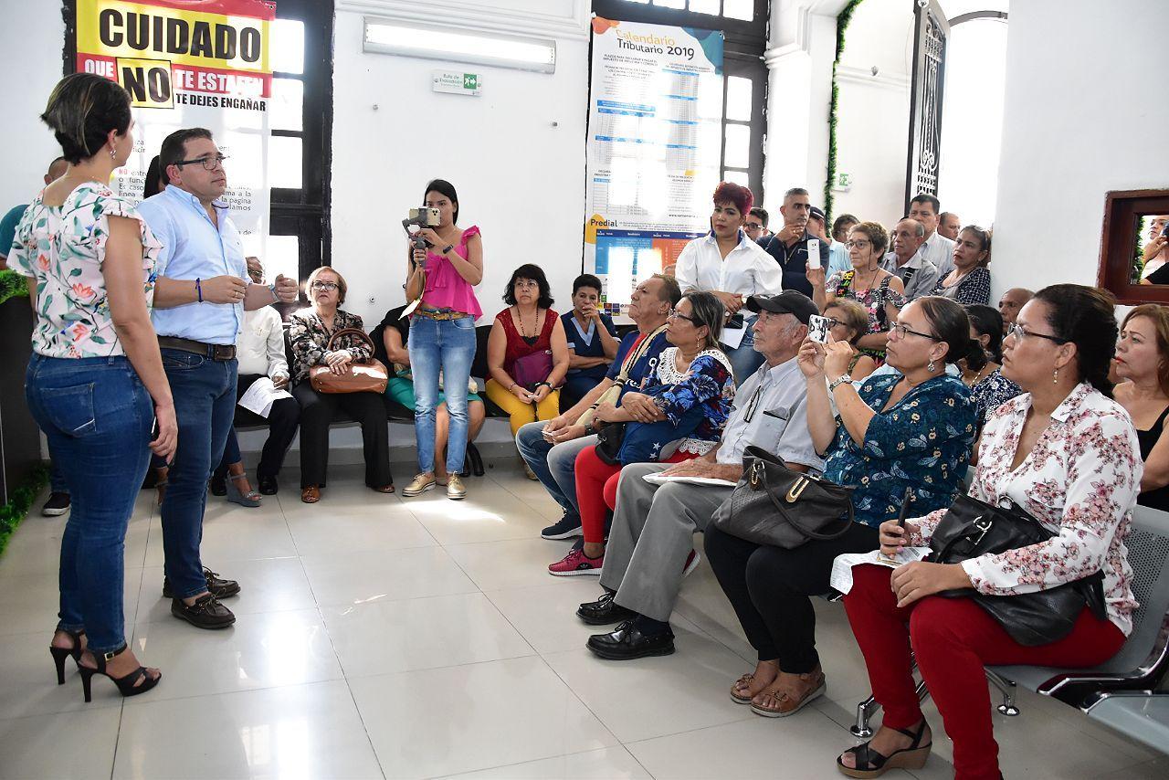 Alcalde socializa con contribuyentes el descuento del 90 % en los impuestos del Predial, Industria y Comercio y Semaforización