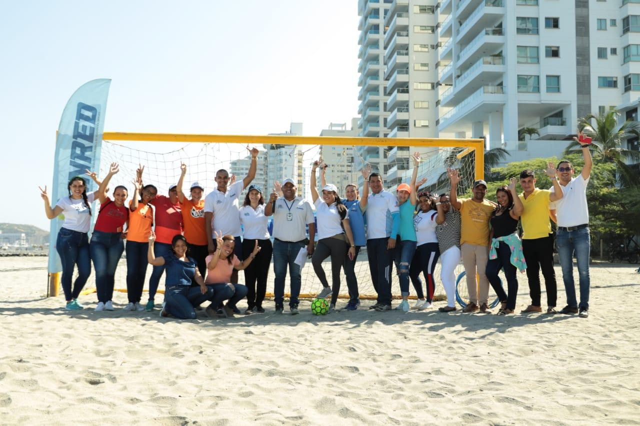 Jóvenes del Sistema de Responsabilidad Penal participaron de jornada lúdica deportiva en la Alcaldía del Cambio
