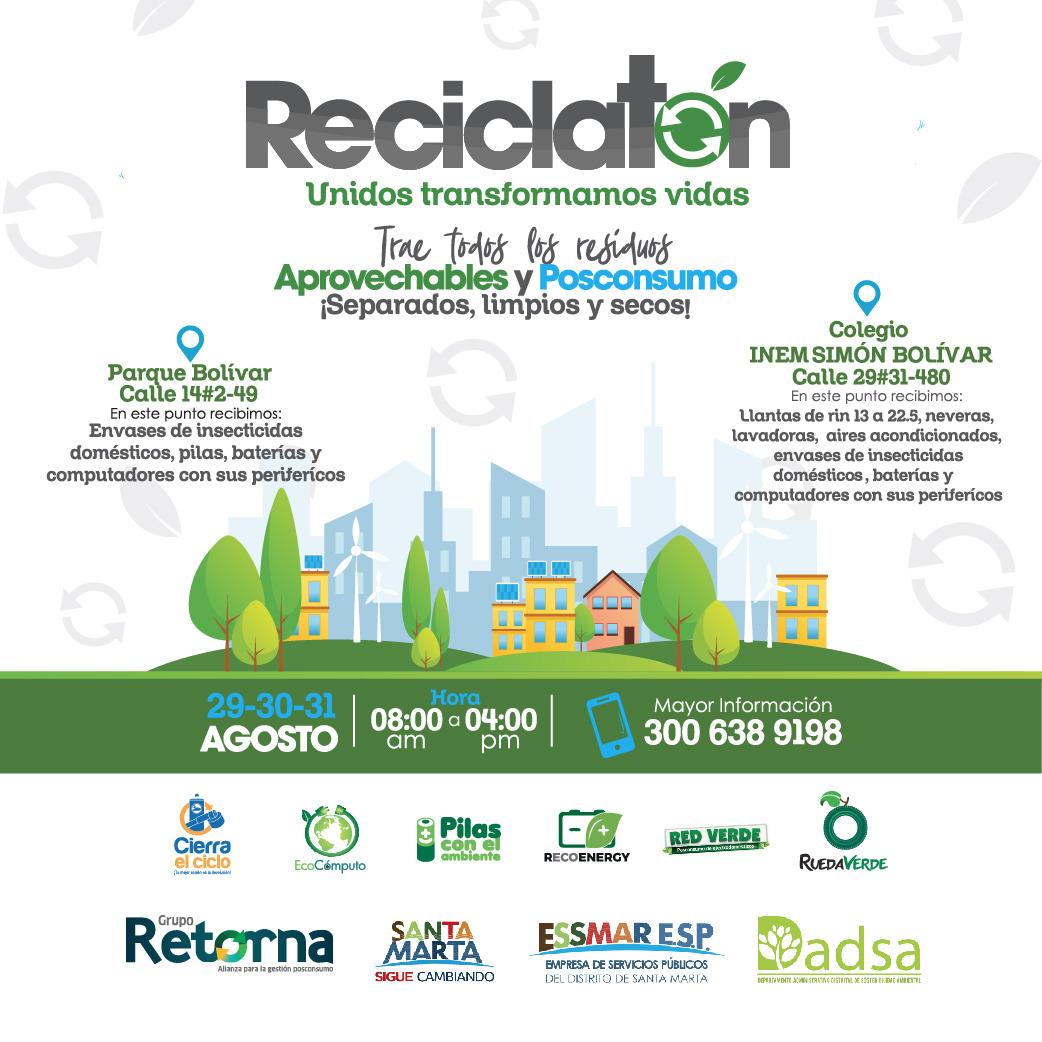 30 empresas públicas y privadas y 12 colegios se vinculan a la jornada de recolección de residuos posconsumo