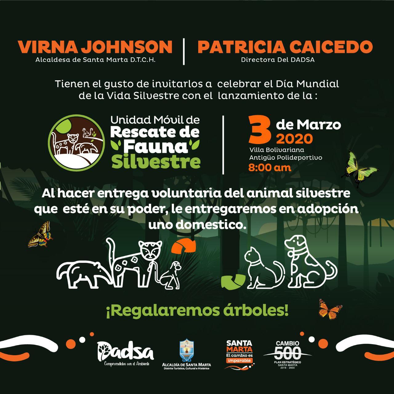 Alcaldía y Dadsa lanzan este martes esperada Unidad Móvil de Rescate de Fauna Silvestre
