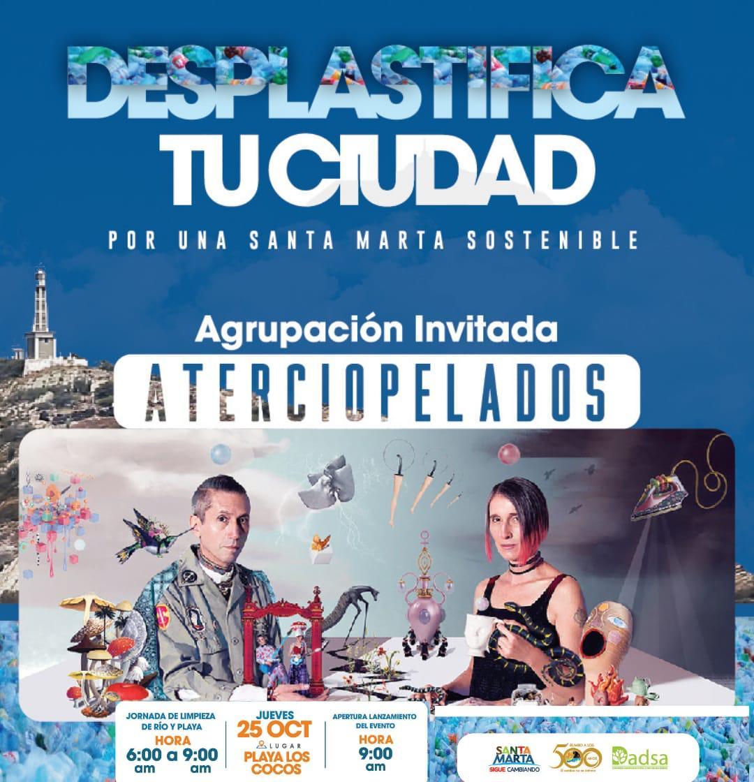 Actor Diego Trujillo se une a limpieza marina y de río e invita a samarios a desplastificar su ciudad