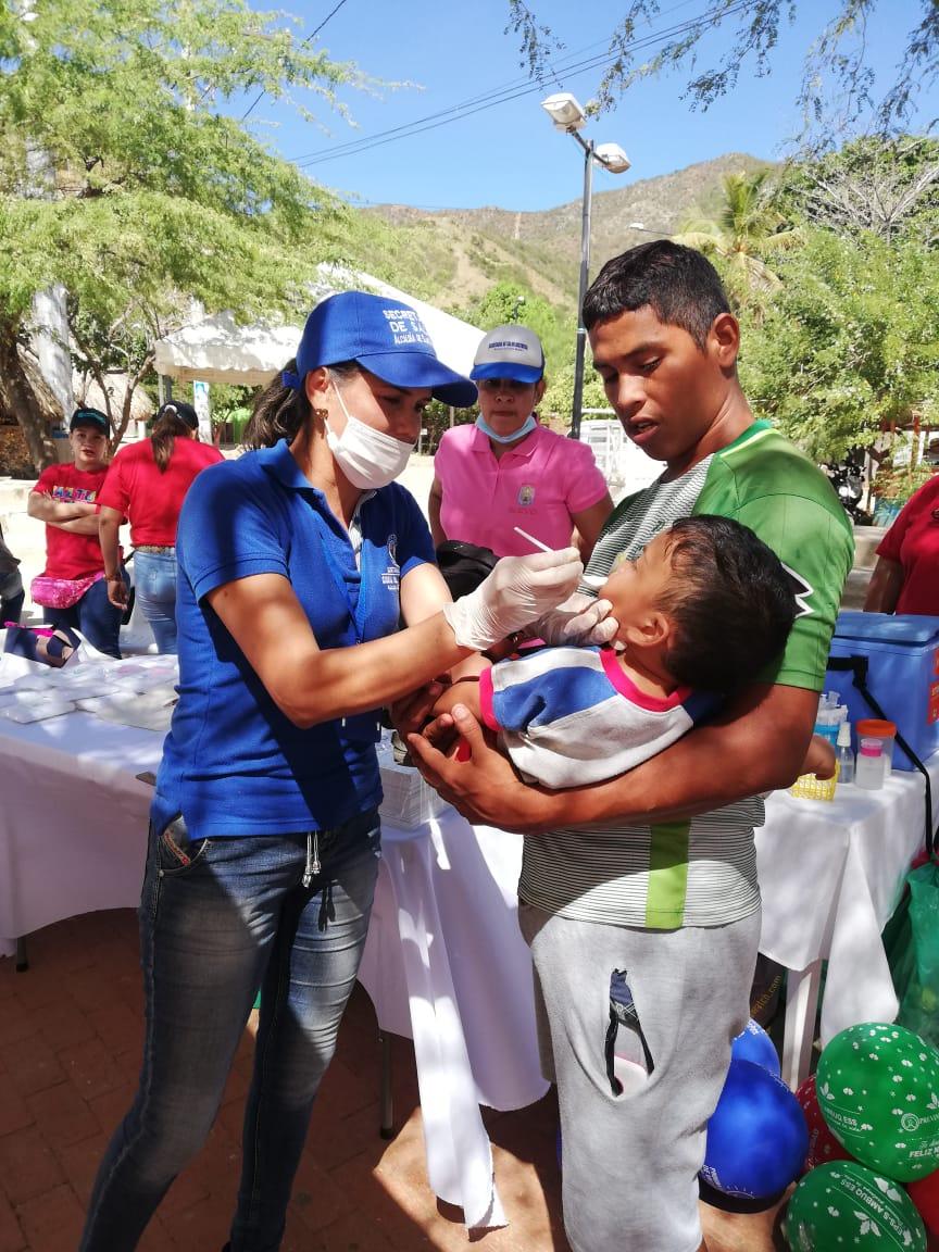 Comunidad de Taganga acudió a jornadas Integral de Salud y de Vacunación