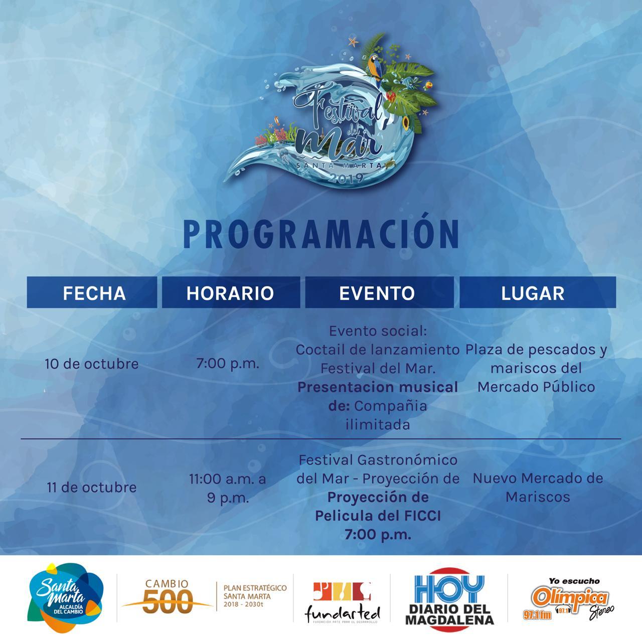 Programación oficial Festival del Mar