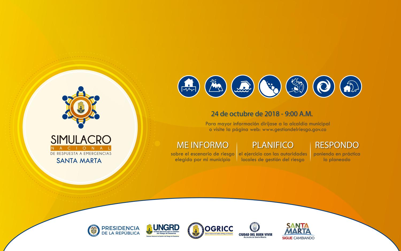 Santa Marta está lista para el 'VII Simulacro Nacional de Respuesta a Emergencias', según Ogricc