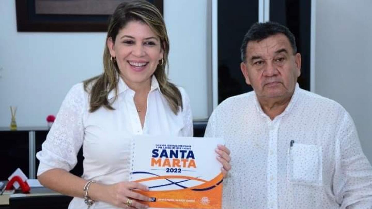 Gobernador Caicedo y Alcaldesa Johnson presentarán candidatura de Santa Marta a los Primeros Juegos Centroamericanos y del Caribe de Playa