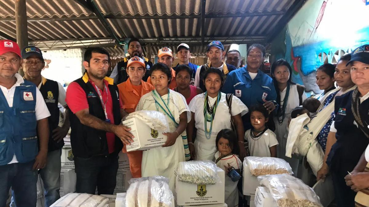 La Alcaldía de Santa Marta entregó 434 ayudas humanitarias en zona rural