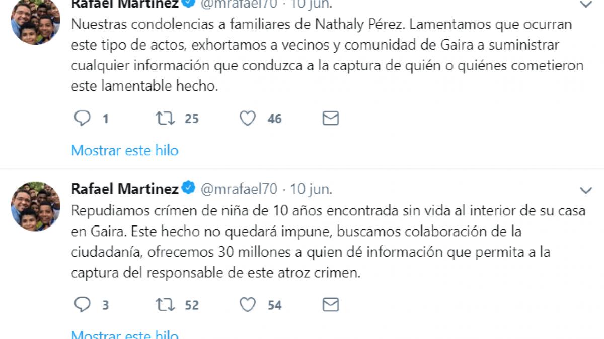 Alcaldía ofrece $30 millones de recompensa por asesinato de menor en Gaira