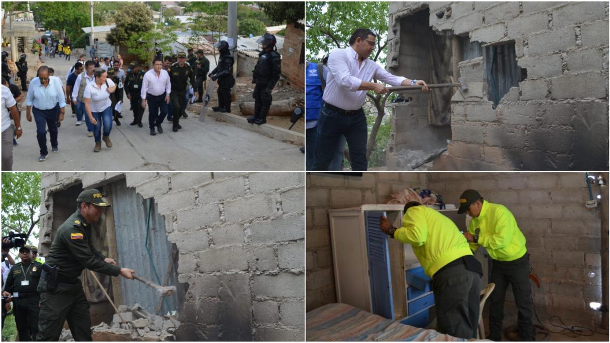 Alcaldía del Cambio y Policía efectúan duro golpe al microtráfico en María Eugenia