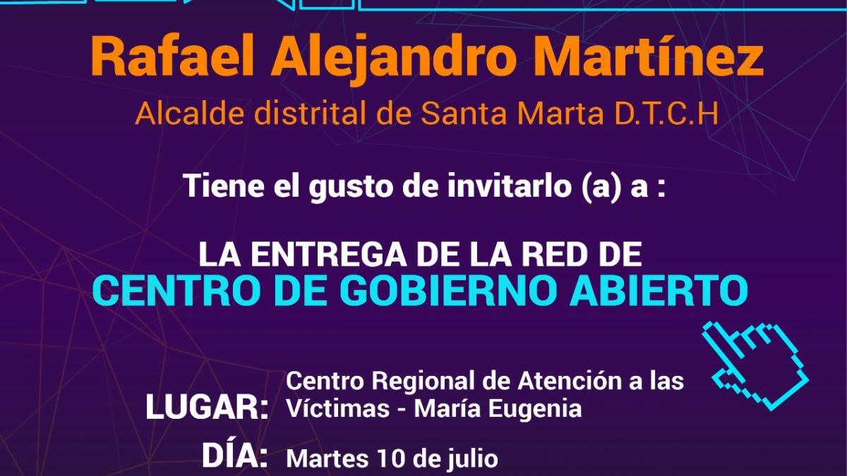 Alcalde hará entrega de Red de Centros de Gobierno Abierto