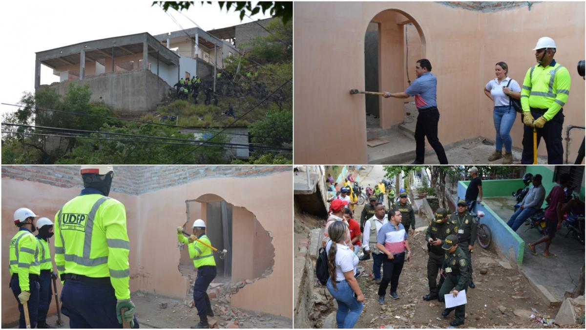 """""""El mensaje es claro, vamos a seguir demoliendo viviendas donde se comercializan y expenden sustancias alucinógenas"""": Alcalde Martínez"""