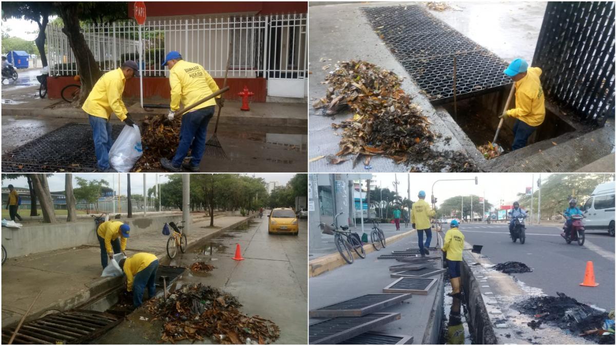 Essmar realiza limpieza de rejillas, canales pluviales y mantenimiento a red de alcantarillado