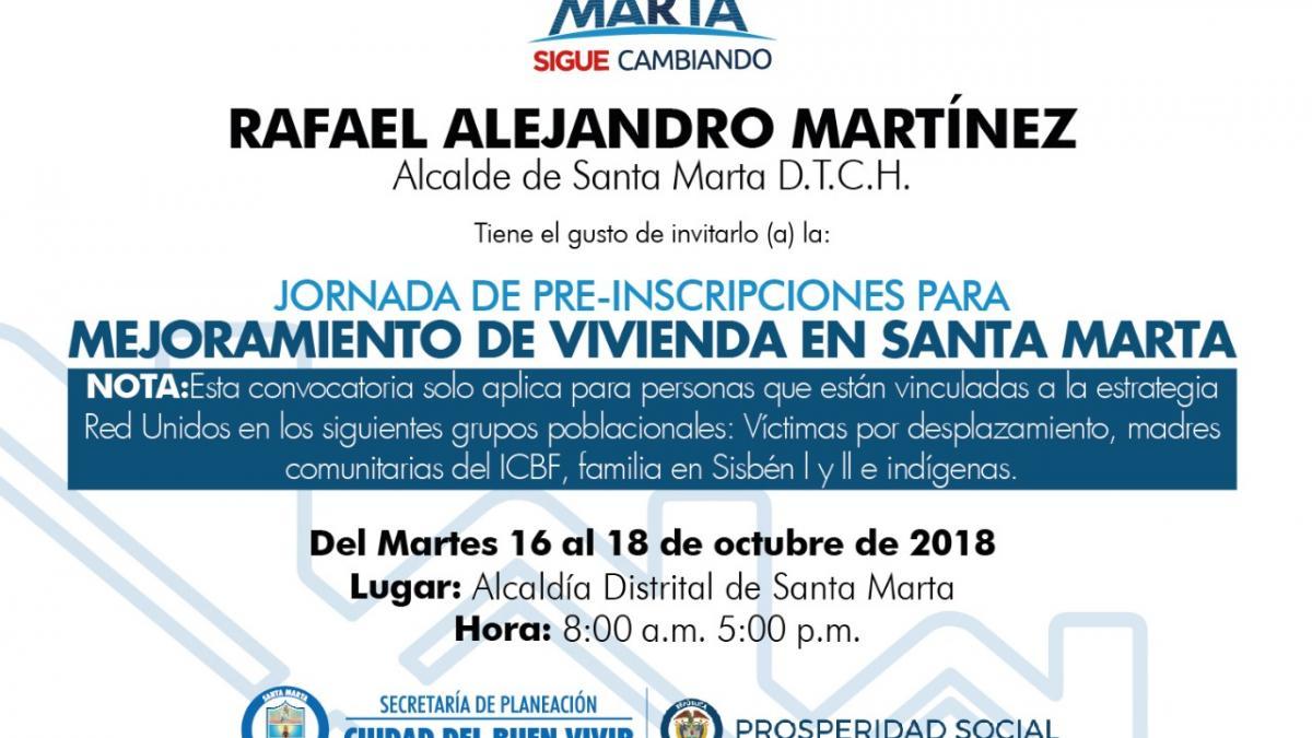 Alcaldía y DPS lideran jornada de pre-inscripción para el mejoramiento de viviendas en Santa Marta