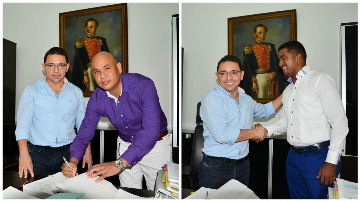 El alcalde Rafael Alejandro Martínez realizó la posesión de los nuevos secretarios de Educación y Gobierno