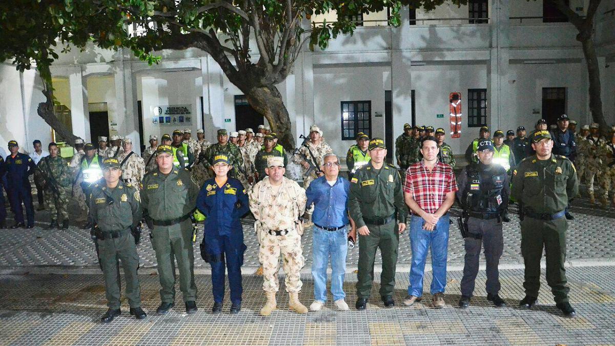 Santa Marta ciudad ejemplo de Colombia donde todas las fuerzas del orden trabajan coordinadamente contra la delincuencia