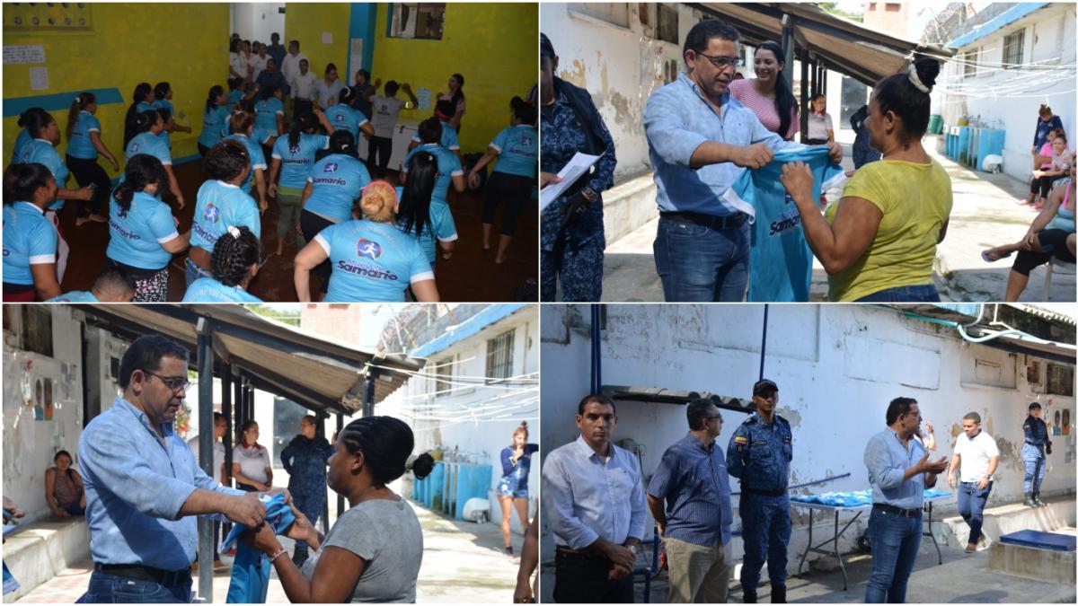 Alcaldía del Cambio entregó uniformes al grupo 'Muévete Samario' de la cárcel Rodrigo de Bastidas
