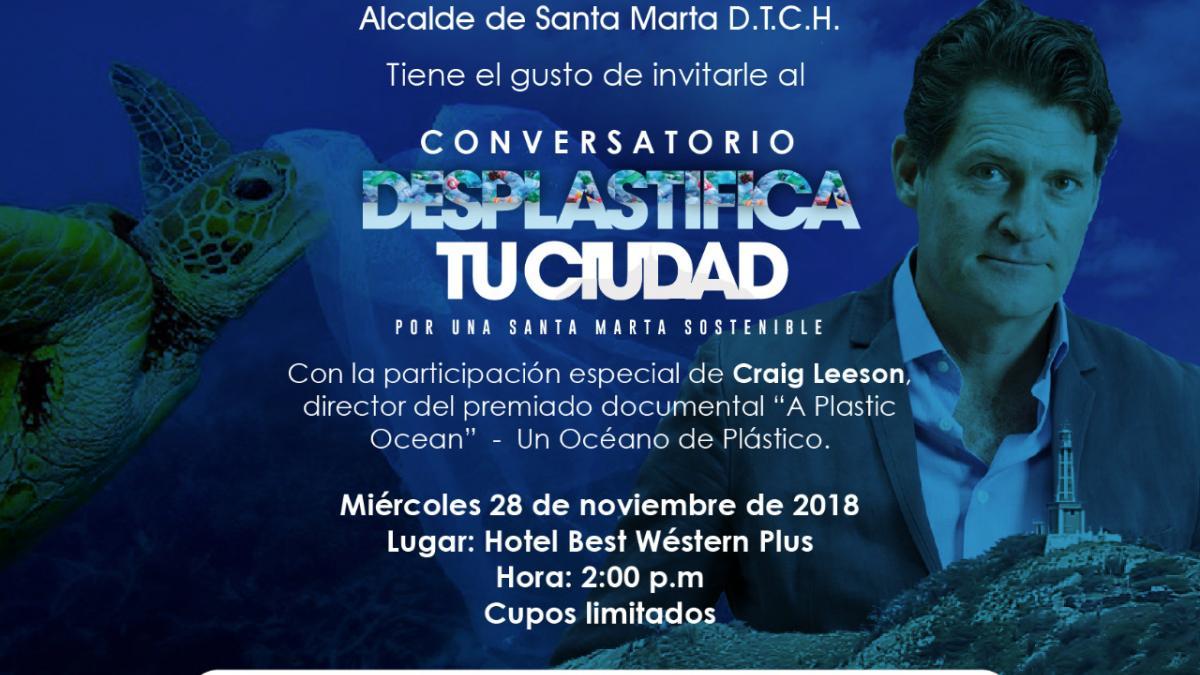 Cineasta de famoso documental 'Un océano de Plástico', invitado especial en foro ambiental del Dadsa