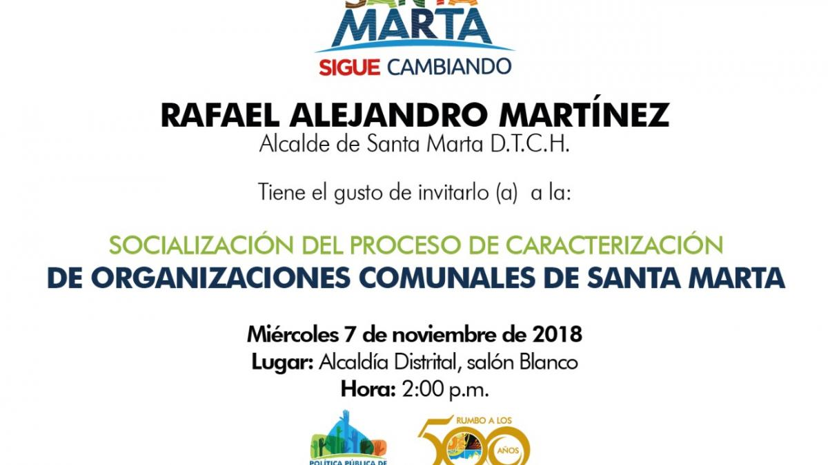 Organizaciones comunales serán caracterizadas por el Distrito