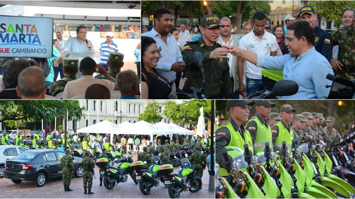 Importantísima dotación de vehículos hizo alcalde Martínez a organismos de seguridad