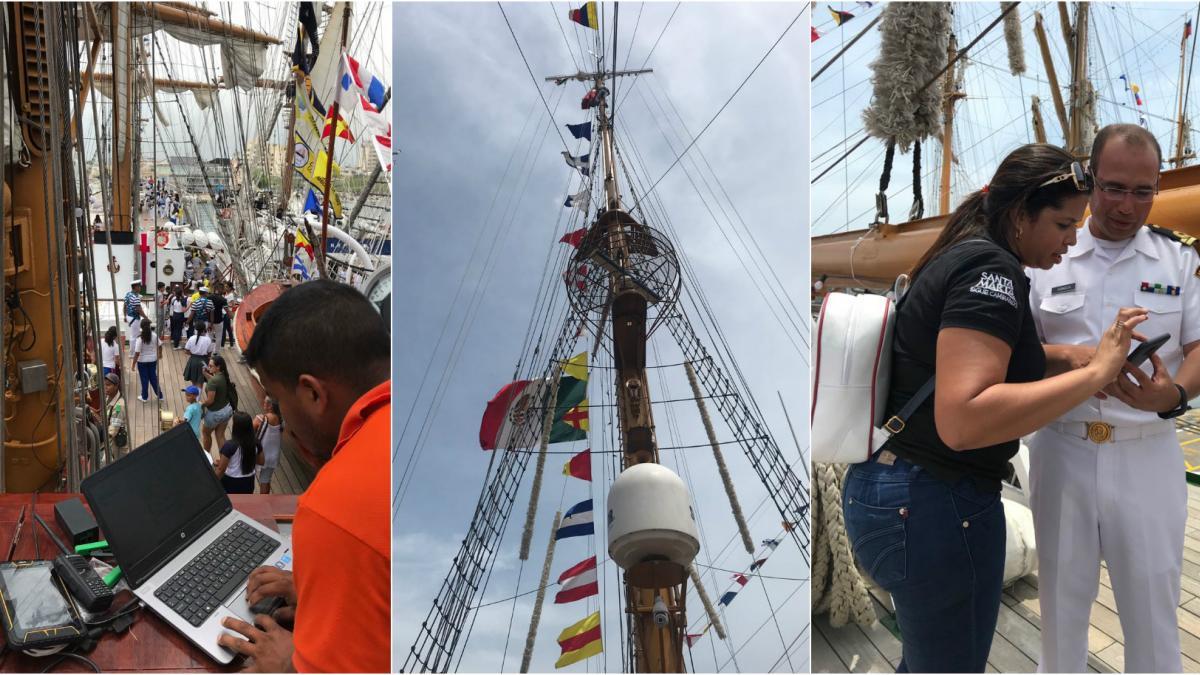 Los 2 mil tripulantes de los veleros internacionales cuentan con WiFi Gratis