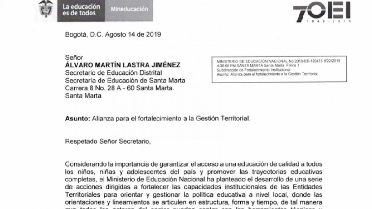 Alcaldía del Cambio y Ministerio de Educación realizan alianza para  fortalecer la gestión territorial