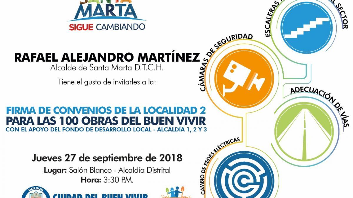 Alcalde firmará convenios para dar inicio a 'Obras Para el Buen Vivir' en 30 barrios