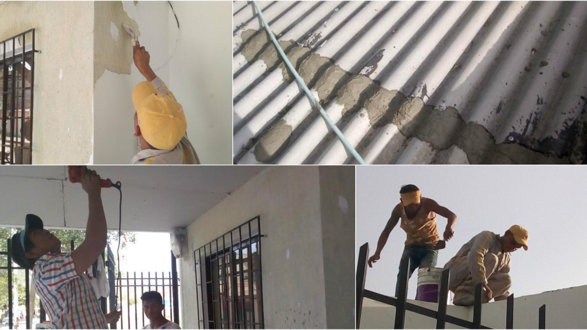 Distrito atiende reparaciones en áreas del puesto de salud de San Jorge que colapsaron por las lluvias
