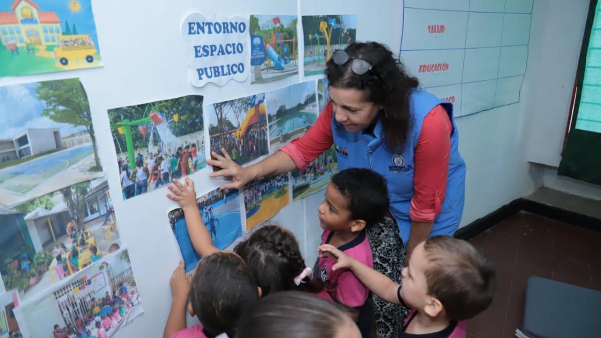 Distrito realizó diálogo ciudadano con niños del Hogar Infantil Los Almendros