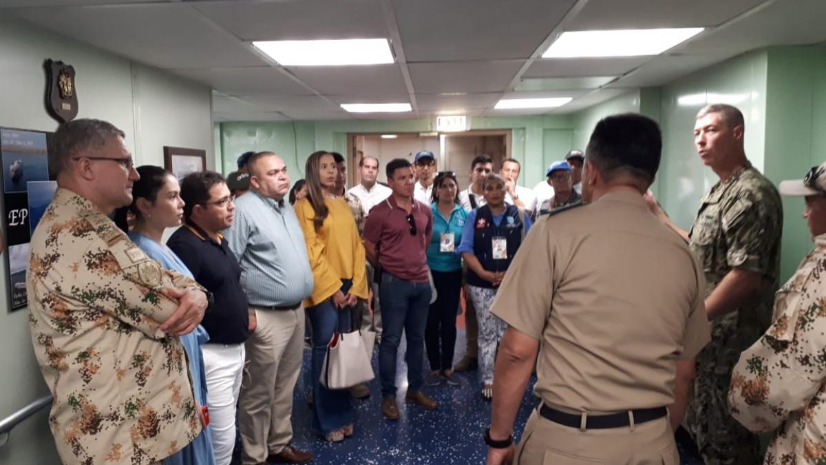 Con la visita del Ministro de Salud culminó la atención humanitaria del buque Comfort