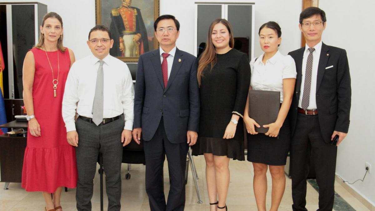 Alcalde Martínez recibió al Embajador de Corea en Colombia