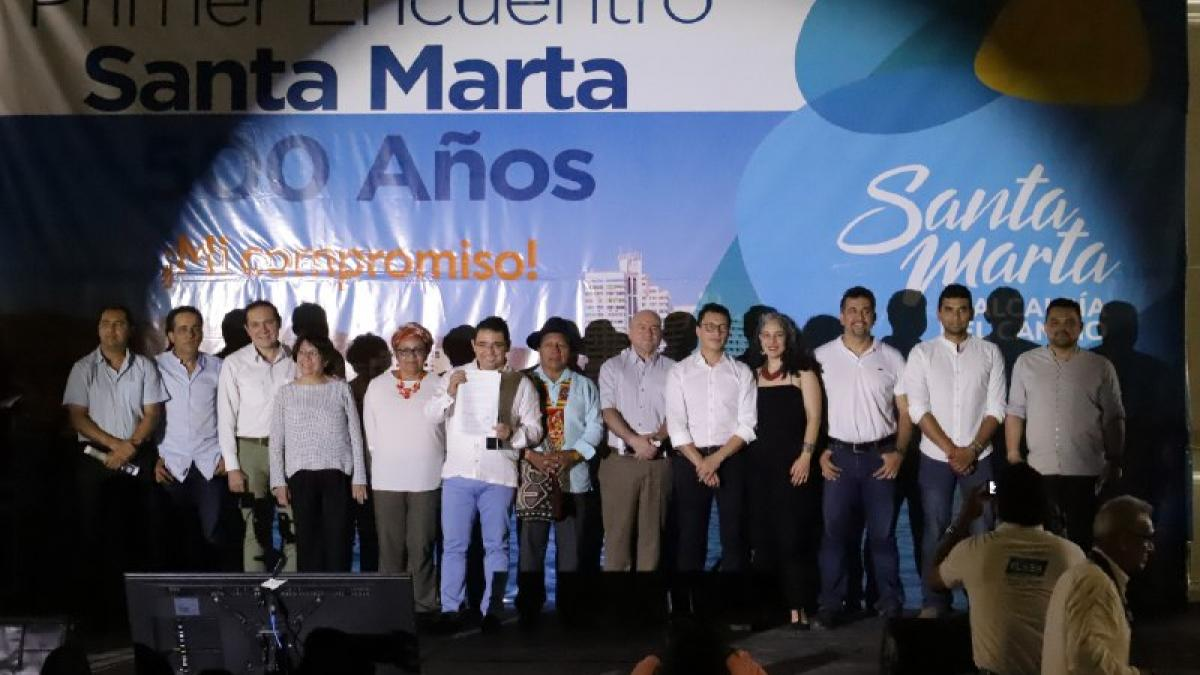 Congresistas comprometen decidido apoyo al Plan Santa Marta 500 años