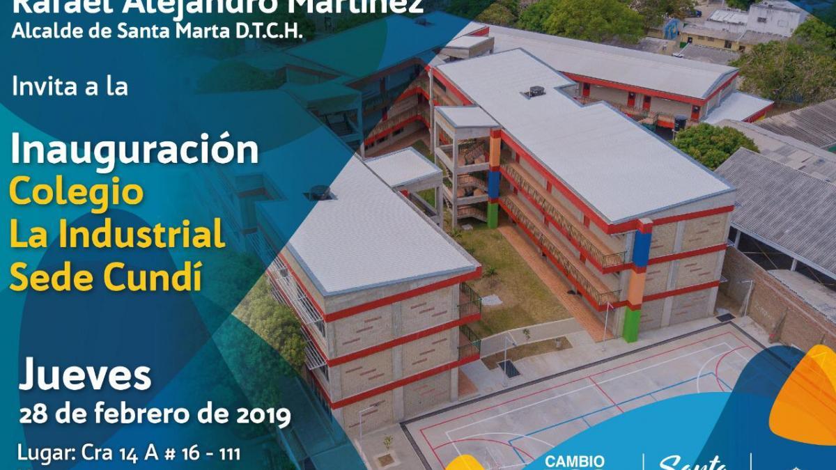 Alcaldía entrega nueva y moderna sede de la IED La Industrial