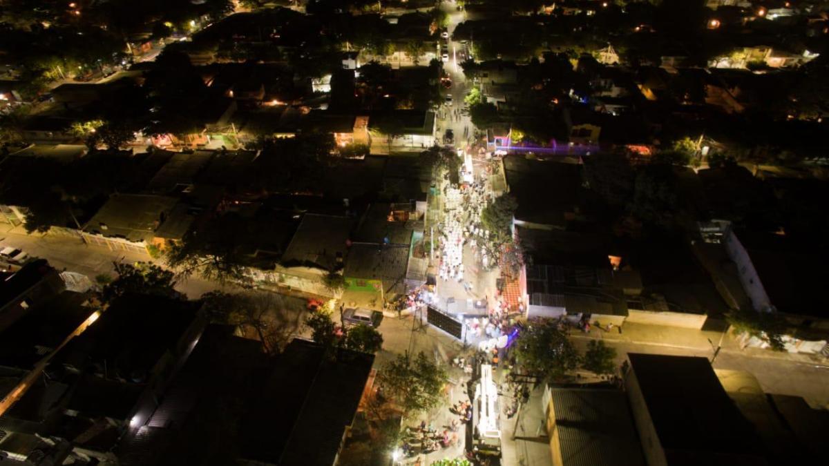 Pastrana: segundo barrio de Santa Marta con 100% de luminarias LED