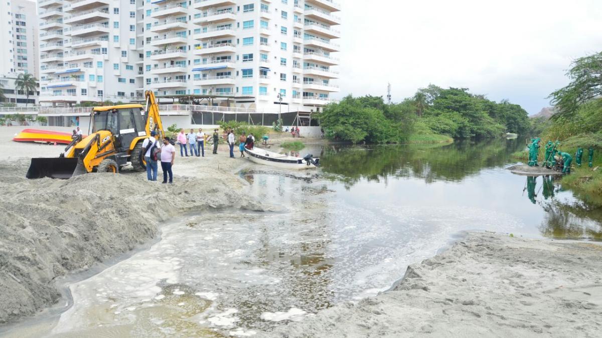 Dadsa destapa desembocadura del río Manzanares para facilitar oxigenación a peces nativos