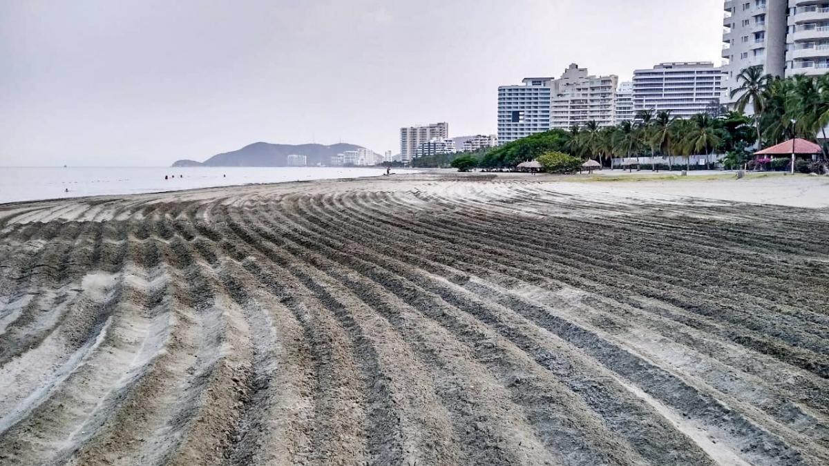 Essmar continúa realizando oxigenación de playas en El Rodadero y Bello Horizonte