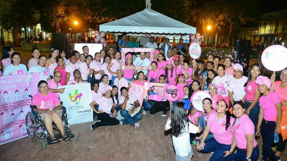 Santa Marta conmemoró el Mes de la Lucha Contra el Cáncer de Mama