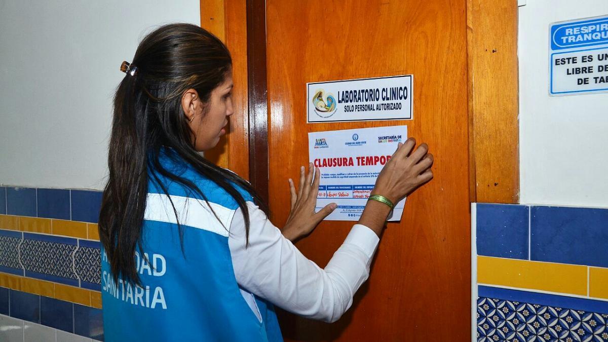 Secretaría de Salud aplica medida de cierre temporal parcial a laboratorio  clínico