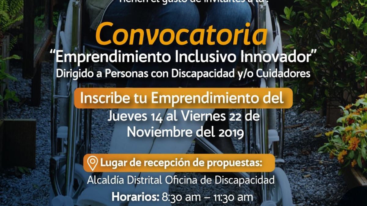 Abierta  convocatoria: 'Emprendimiento inclusivo Innovador' para personas con discapacidad
