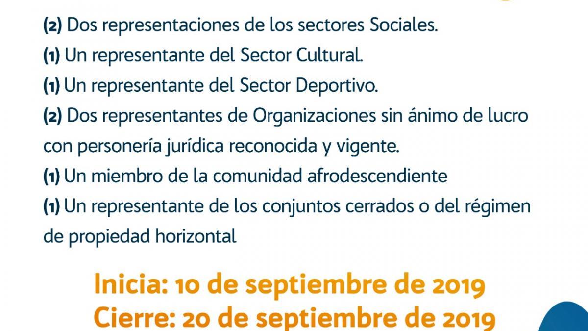 Alcaldía del Cambio abre convocatoria pública del Consejo Territorial de Planeación