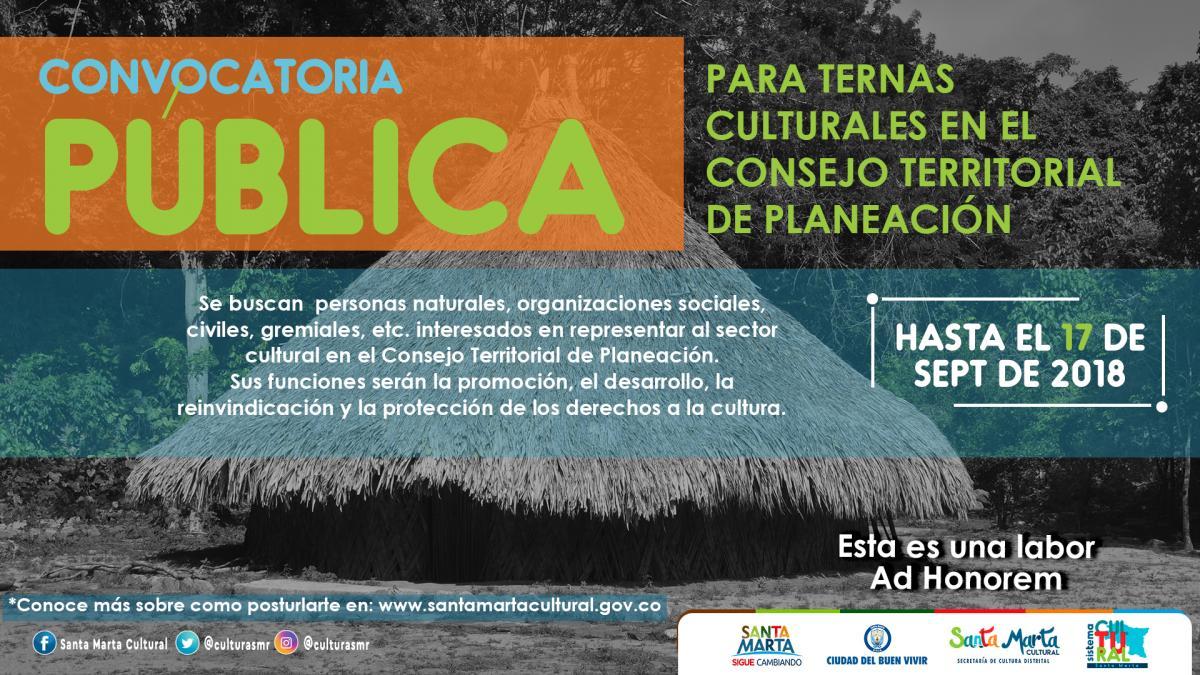 Llamado al Sector Cultural del Distrito para conformar el Consejo Territorial de Planeación