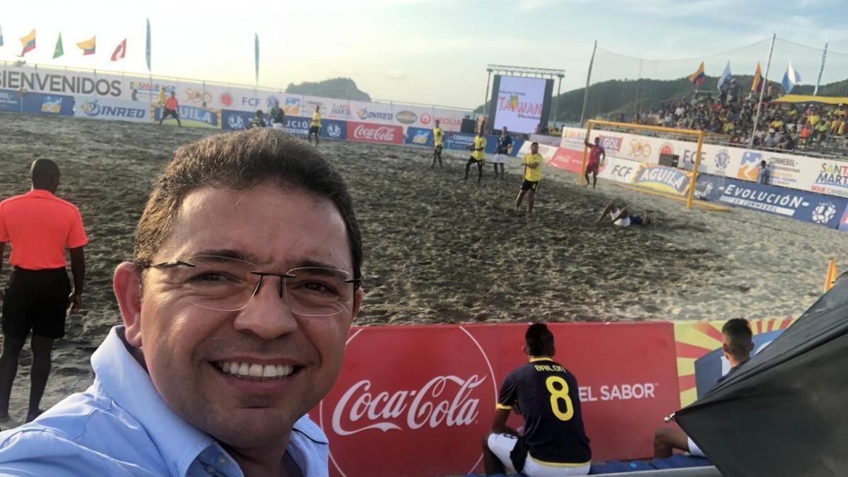 Con la presencia del alcalde Martínez, arrancó Suramericano de Futplaya en Santa Marta