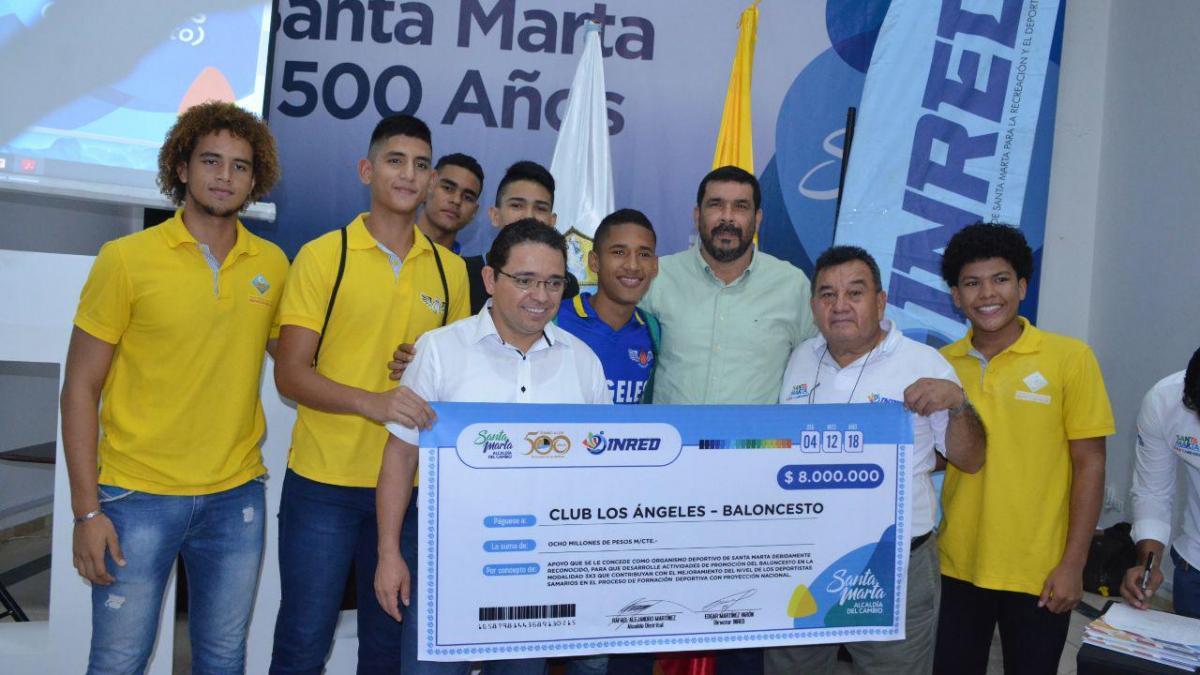 """""""Aquí están los recursos de los samarios, reinvertidos en nuestros deportistas"""": Alcalde Martínez"""