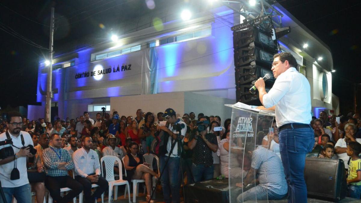 Alcalde Rafael Martínez entregó nuevo centro de salud de La Paz