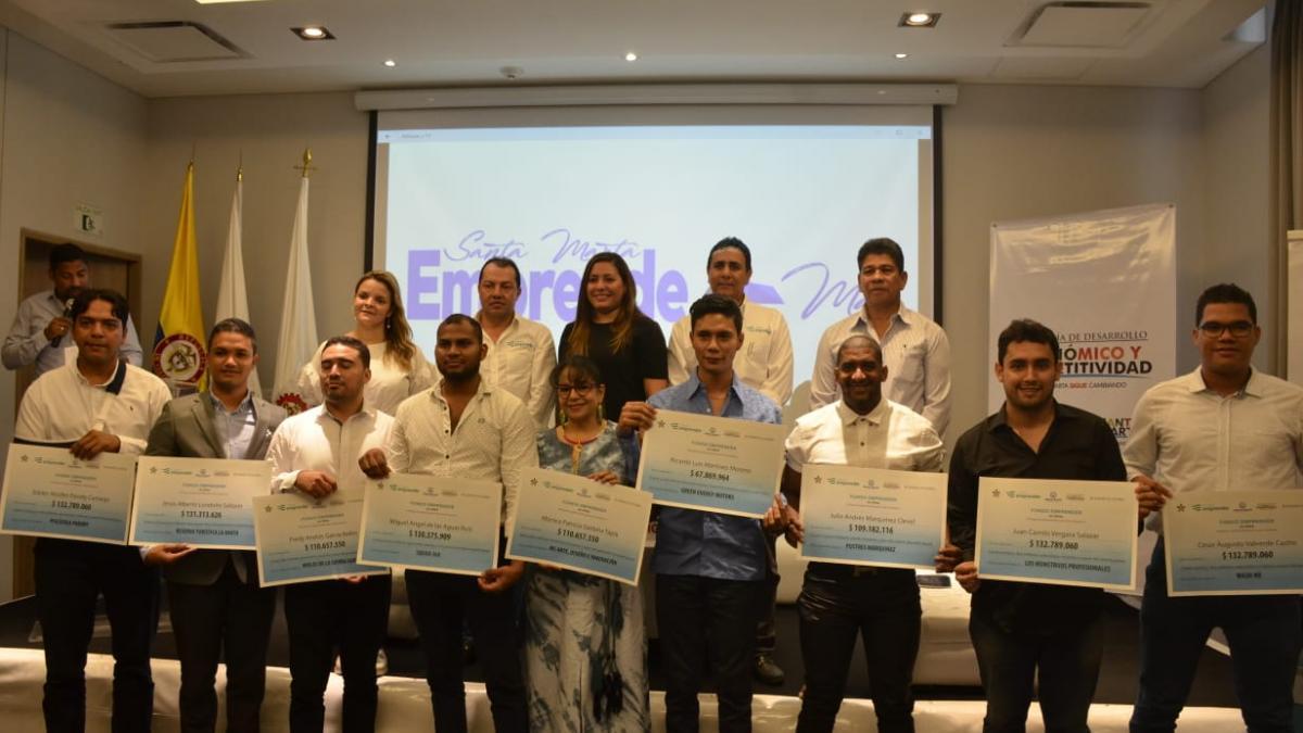 Más de 60 empleos generarán los ganadores del Programa 'Santa Marta Emprende Más'