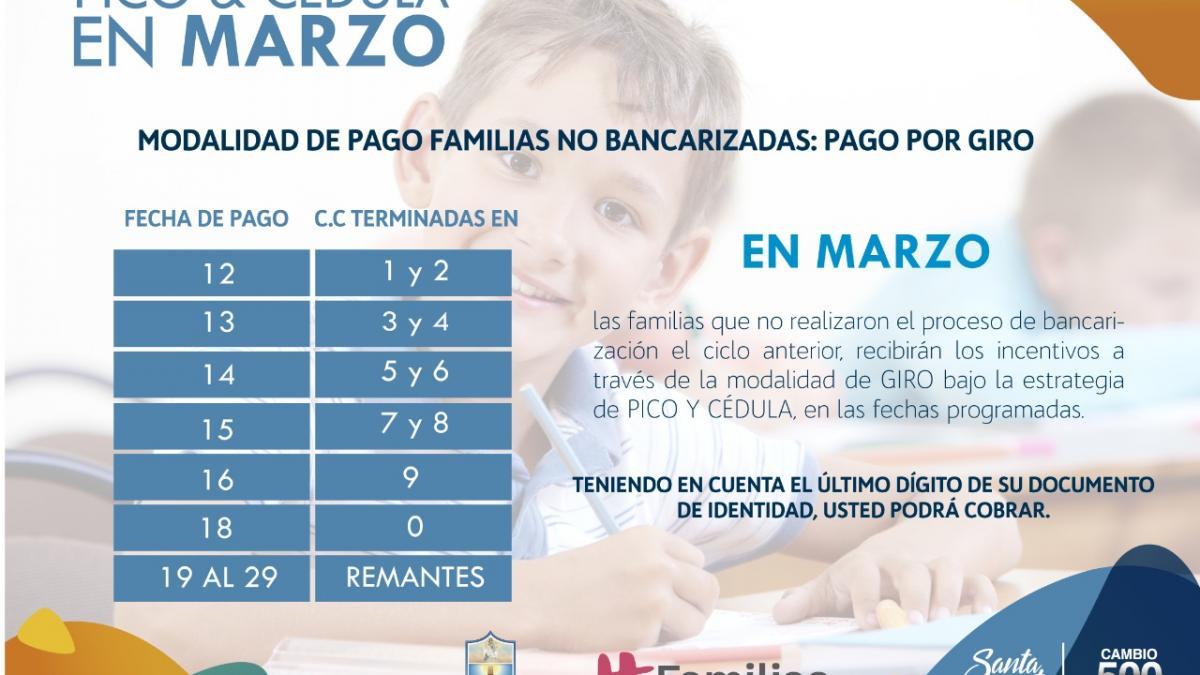 Distrito inicia 1ra entrega de incentivos de Familias en Acción de 2019